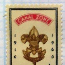 Timbres: PANAMA CANAL DE PANAMA BOY SCOUT DE AMERICA 1910 1060 50 ANIVERSARIO ESCUDO. Lote 202089051