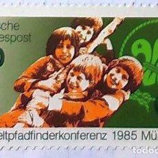 Sellos: ALEMANIA DEUTSCHE PFDFINDERSCHAFF SANKT BOY SCOUTS 1985 MUNCHEN. Lote 202093726