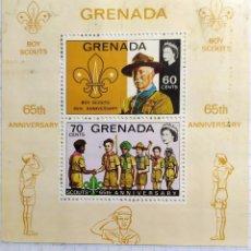 Sellos: GRENADA 1972 BOY SCOUT 65 TH ANNIVERSARY ANIVERSARIO QUENN SALUDO BADEN POWELL. Lote 202094170