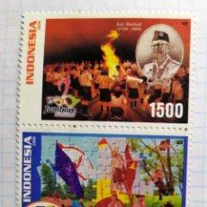 Sellos: INDONESIA JAMBORE NASIONAL KAK MASHUDI 1920 2005 JUBILEE REGIONO ASIA PACIFICO. Lote 202095888