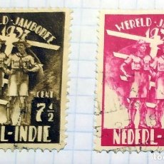 Timbres: INDIA HOLANDESA BOY SCOUTS WERELD JAMBOREE 1937 NEDERL INDIE. Lote 202265663