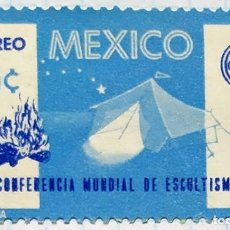 Timbres: MEXICO BOY SCOUTS XX CONFERENCIA MNDIAL DE ESCULTISMO 1965 AEREO. Lote 202266592