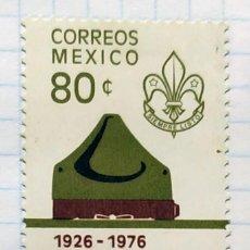 Timbres: MEXICO Nº YVERT 829*** AÑO 1976. 50 ANIVERSARIO ASOCIACION MEXICANA DE SCOUTS. Lote 202266757