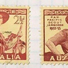 Sellos: AUSTRALIA BOY SCOUTS PAN PACIFIC SCOUT JAMBOREE 1948 1952 1953. Lote 202269590