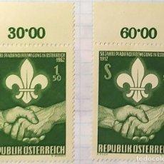 Sellos: AUSTRALIA BOY SCOUTS 1912 1962 REPUBLIK OSTERREICH. Lote 202271957