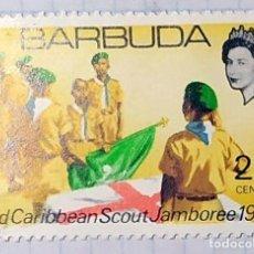 Sellos: BARBUDA BOY SCOUT 3 RD CARIBBEAN SCOUT JAMBOREE 1969 01. Lote 202300615