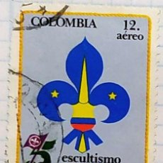 Sellos: COLOMBIA. YVERT A-731. SERIE COMPLETA SCOUTS. Lote 202308310