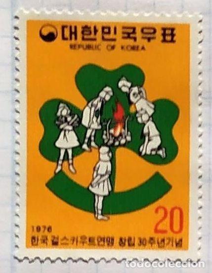 COREA DEL SUR 911** - AÑO 1976 - 30º ANIVERSARIO DEL MOVIMIENTO SCOUT FEMENINO COREANO (Sellos - Temáticas - Boy Scout)