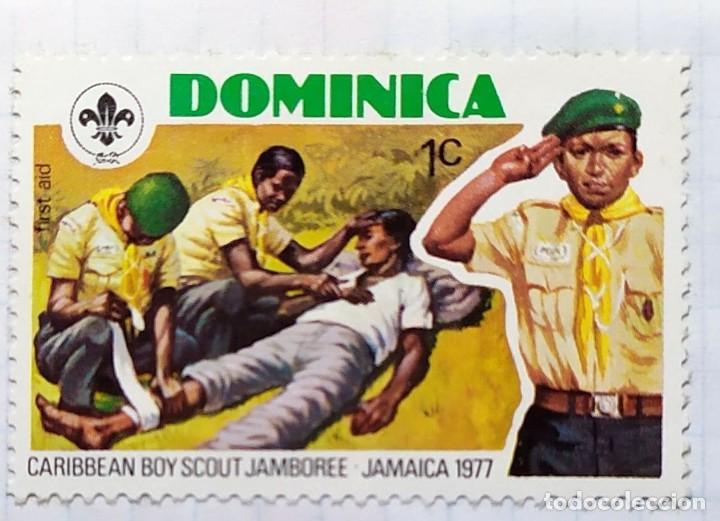 Sellos: DOMINICA 1977 BOY SCOUT CARIBBEAN JABOREE JAMAICA SERIE DE TRES SELLOS - Foto 2 - 202309452