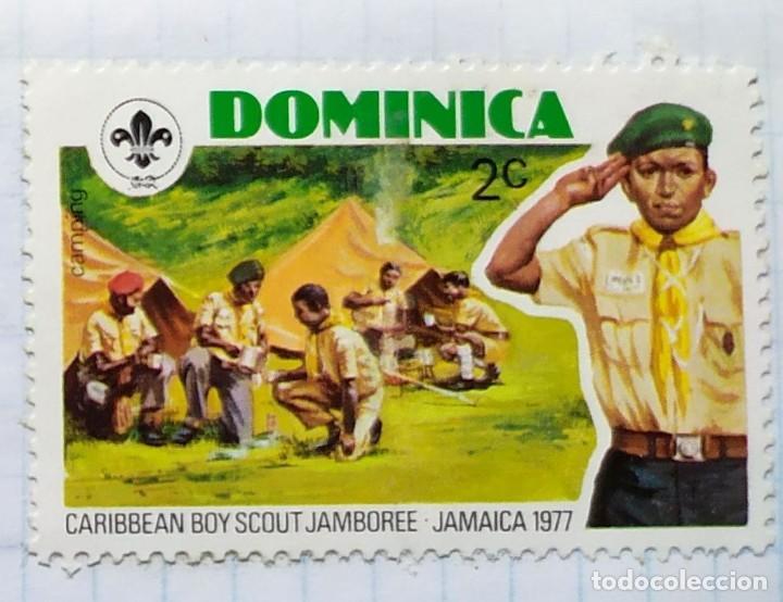 Sellos: DOMINICA 1977 BOY SCOUT CARIBBEAN JABOREE JAMAICA SERIE DE TRES SELLOS - Foto 3 - 202309452