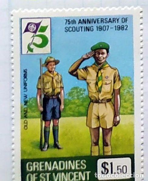GRANADINAS DE SAN VICENTE 75 TH ANNIVESERSARY BOY SCOUTING 1907 1982 01 (Sellos - Temáticas - Boy Scout)