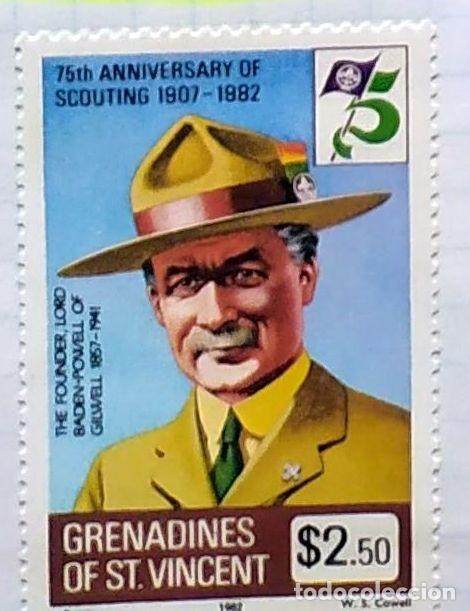 GRANADINAS DE SAN VICENTE 75 TH ANNIVESERSARY BOY SCOUTING 1907 1982 02 (Sellos - Temáticas - Boy Scout)
