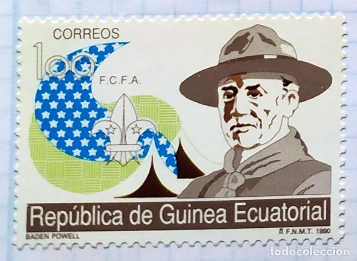 GUINEA ECUATORIAL MOVIMENTO BOY SCOUTS F.C.F.A. 1990 SERIE DE TRES SELLOS 01 (Sellos - Temáticas - Boy Scout)