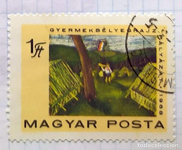 HUNGRIA BOY SCOUTS 1968 MAGYAR POSTA GYERMEKBELYEGRAJZ 50 EVES A JCMP PALYAZAT02 (Sellos - Temáticas - Boy Scout)