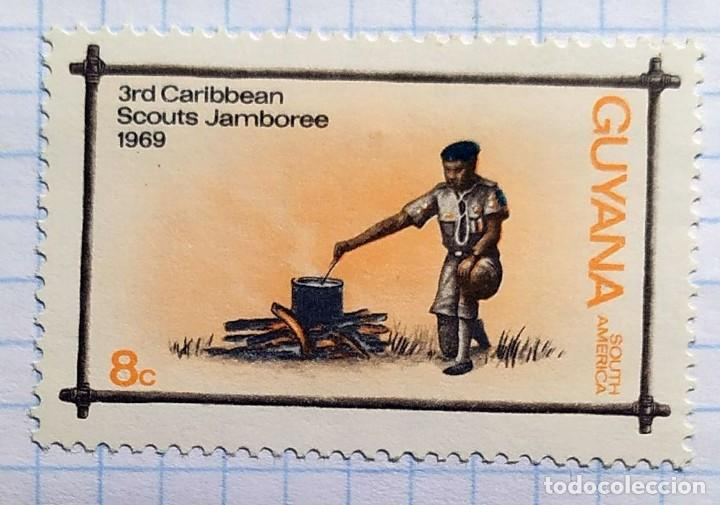 GUYANA AÑO 1969 3RD CARIBBEAN SCOUTS JAMBOREE SOUTH AMERICA 02 (Sellos - Temáticas - Boy Scout)