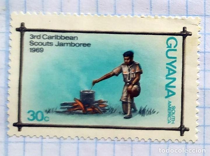 GUYANA AÑO 1969 3RD CARIBBEAN SCOUTS JAMBOREE SOUTH AMERICA 04 (Sellos - Temáticas - Boy Scout)
