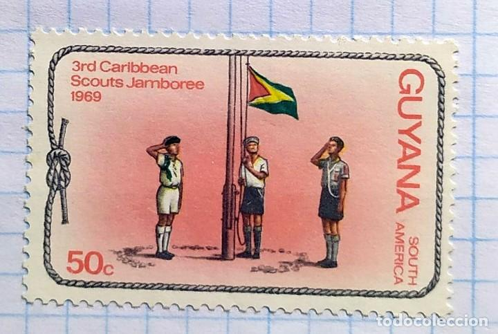 GUYANA AÑO 1969 3RD CARIBBEAN SCOUTS JAMBOREE SOUTH AMERICA 05 (Sellos - Temáticas - Boy Scout)