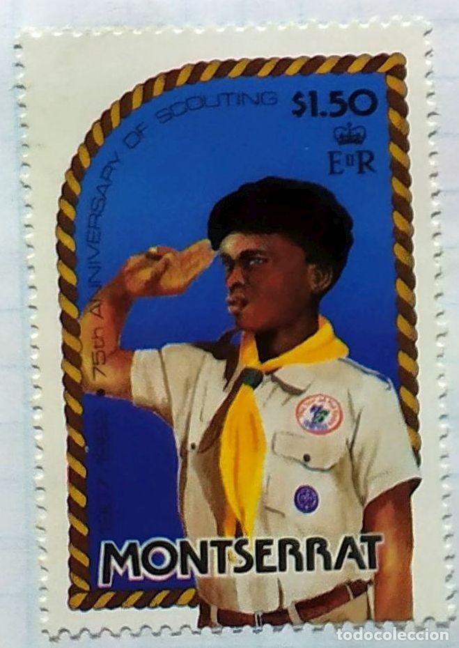 MONSERRAT 75 TH ANIVERSARIO ESCUTISMO SCOUTING BOY SCOUTS (Sellos - Temáticas - Boy Scout)