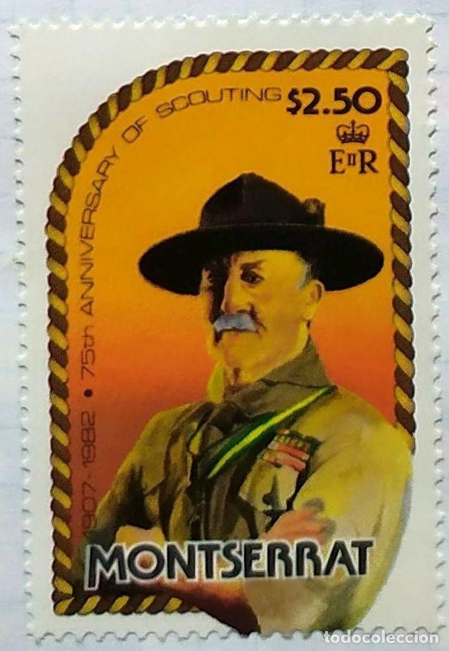 MONSERRAT 75 TH ANIVERSARIO ESCUTISMO SCOUTING BOY SCOUTS BADEN POWELL (Sellos - Temáticas - Boy Scout)