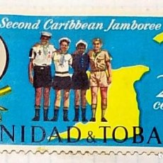 Sellos: TRINIDAD Y TOBAGO BOY SCOUTS SECOND CARIBBEAN JAMBOREE ABRIL ABRIL 02. Lote 202322803