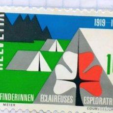 Sellos: SUIZA 1963 HELVETIA 1919 1969 ESPLORATRICI BOY SCOUTS. Lote 202323377
