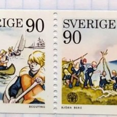 Sellos: SUECIA Nº YVERT 900/1*** AÑO 1975 REUNION DE SCOUTS EN LILLEHAMMER. Lote 202323482
