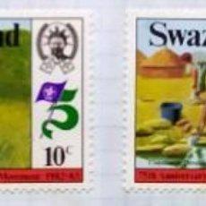 Sellos: SWAZILAND SWAZILANDIA SERIE DE CUATRO 75 TH ANNIVERSARY MOVEMENT SCOUTS 1982 1983. Lote 202324512