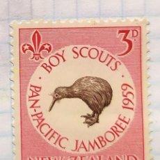 Sellos: NUEVA ZELANDA AÑO 1959 PAN PACIFIC JAMBOREE DE SCOUTS NEW ZELAND. Lote 202545226