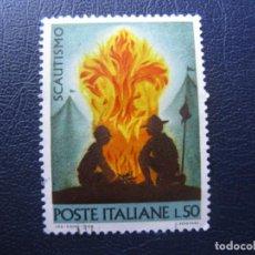 Sellos: ITALIA 1968, TEMA SCOUTISMO, YVERT 1012. Lote 202699995
