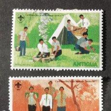 Sellos: 1977 ANTIGUA ENCUENTRO INTERNACIONAL DE BOY SCOUTS. Lote 203527438