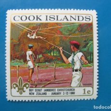 Timbres: +ISLAS COOK 1969, TEMA SCOUTISMO, YVERT 198. Lote 208913311