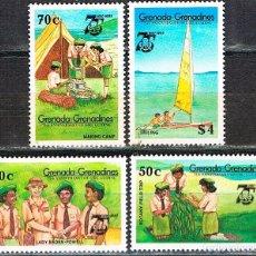 Sellos: GRANADA-GRANADINAS Nº 667/70, 75 ANIVERSARIO DE LAS GIRL GUIDE. Lote 209145668