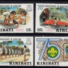 Sellos: KIRIBATI 88/91** - AÑO 1982 - 75º ANIVERSARIO DEL MOVIMIENTO SCOUT. Lote 212385343