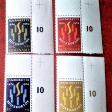 Sellos: SURINAM. 396/99 ANIVERSARIO SCOUTISMO Y JAMBOREE EN PARAMARIBO.1964. SELLOS NUEVOS Y NUMERACIÓN YVER. Lote 216637028