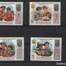 Sellos: SERIE NUEVA DE GRENADA 390 A 93. TEMA BOY SCOUTS.. Lote 217374595