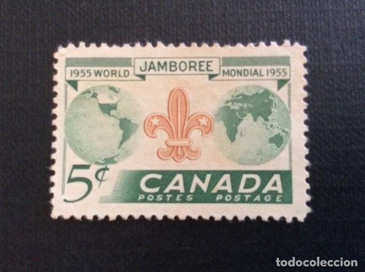 CANADA Nº YVERT 283**. AÑO 1955. 5º JAMBOREE MUNDIAL DE SCOUTS. SELLO NUEVO SIN GOMA (Sellos - Temáticas - Boy Scout)