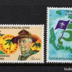 Sellos: COCOS 84/85** - AÑO 1982 - 75º ANIVERSARIO DEL MOVIMIENTO SCOUT. Lote 218806488