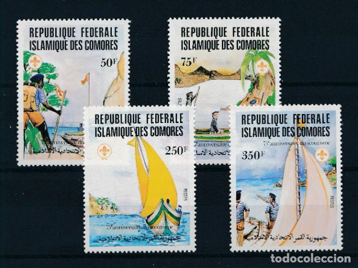 COMORES 1982 IVERT 362/5 *** 75º ANIVERSARIO DEL SCOUTISMO - SCOUTS MARINOS (Sellos - Temáticas - Boy Scout)
