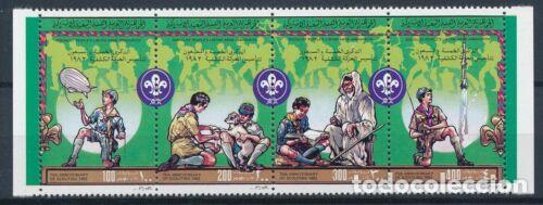 LIBIA 1982 IVERT 1013/6 *** 75º ANIVERSARIO DEL SCOTISMO - ACTIVIDADES DE LOS SCOUTS (Sellos - Temáticas - Boy Scout)