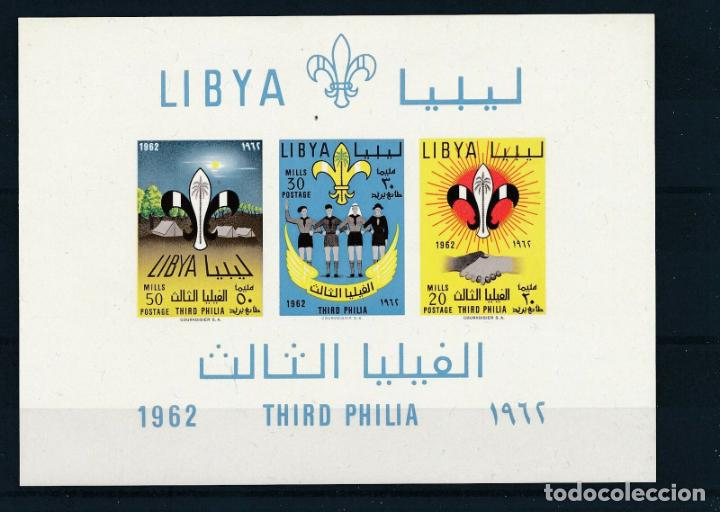 LIBIA 1962 HB IVERT 4 *** 13ª ASAMBLEA SCOUT EN LIBIA (Sellos - Temáticas - Boy Scout)