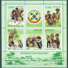 Sellos: 🚩 CUBA 2002 PIONEER EXPLORERS, SCOUTS MNH - PIONEERS. Lote 241352990