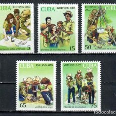 Sellos: CUBA 2002 PIONEER EXPLORERS, SCOUTS MNH - PIONEERS. Lote 241370950
