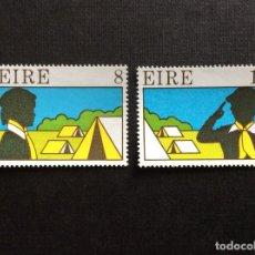 Sellos: IRLANDA Nº YVERT 366/7*** AÑO 1977. 50 ANIVERSARIO SCOUTS EN IRLANDA. Lote 243092800