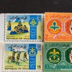 Sellos: IRAK Nº YVERT 501/4*** AÑO 1968. SCOUTS. Lote 243093085