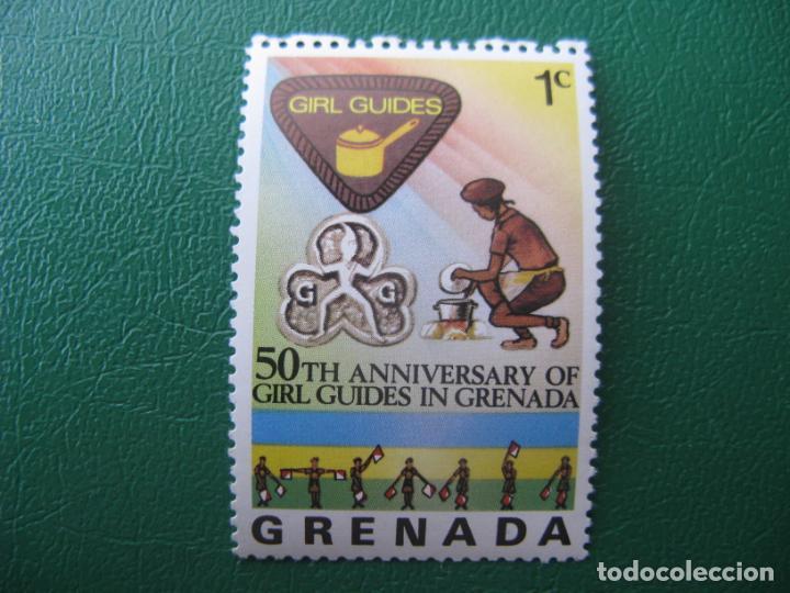 *GRENADA, 50 ANIVERSARIO DE LAS CHICAS EXPLORADORAS EN GRENADA (Sellos - Temáticas - Boy Scout)