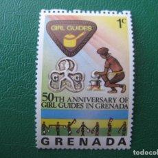 Sellos: *GRENADA, 50 ANIVERSARIO DE LAS CHICAS EXPLORADORAS EN GRENADA. Lote 243916105