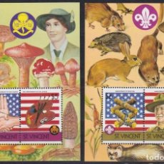 Sellos: F-EX21605 ST VINCENT MNH 1986 MUSHROOMS BOYS SCOUTS LORD BADEB POWELL RAT.. Lote 244621900