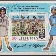 Sellos: F-EX22187 LIBERIA USED 1971 BOYS SCOUTS JAMBOREE. Lote 244621925