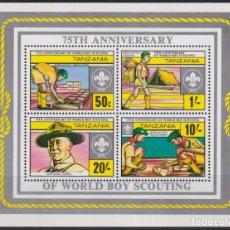 Sellos: F-EX21604 TANZANIA MNH 1982 BOYS SCOUTS LORD BADEB POWELL.. Lote 244621960
