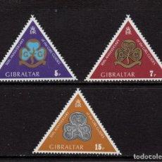 Sellos: GIBRALTAR 320/22** - AÑO 1975 - 50º ANIVERSARIO DEL MOVIMIENTO SCOUT FEMENINO DE GIBRALTAR. Lote 245049995